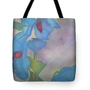 Light Blue Poppies Tote Bag