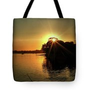 Light Break Through At Sundown Tote Bag