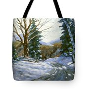 Light Breaks Through The Pines Tote Bag