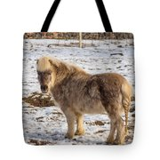Light Brown Pony Tote Bag