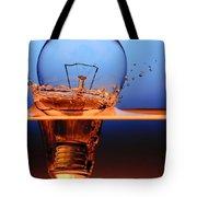 Light Bulb And Splash Water Tote Bag