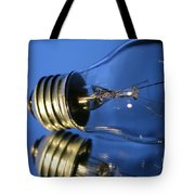 Light Bulb - Blue Tote Bag