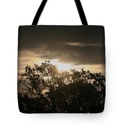 Light Chasing Away The Darkness Tote Bag