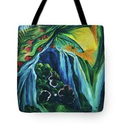 Light Dawns On A Floating World Tote Bag