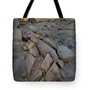Light Fading On Valley Of Fire Tote Bag