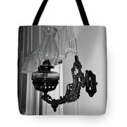 Light From The Past B W Tote Bag