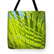 Light Green Palm Leaves Tote Bag