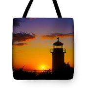 Light House At Fort Casey Washington Tote Bag