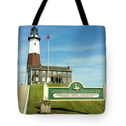 Light House At Montauk Point Tote Bag