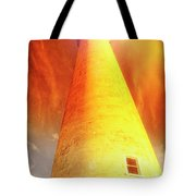 Light House At Sunset, Cape May, Nj Tote Bag