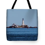Light House On The Rocks Tote Bag