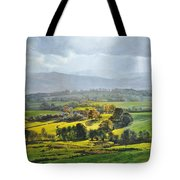 Light In The Valley At Rhug. Tote Bag