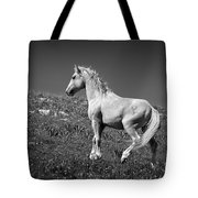 Light Mustang 1 Bw Tote Bag by Roger Snyder