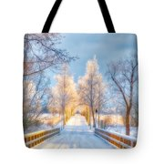 Light Of Winter Tote Bag