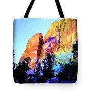 Light On Cliffs Tote Bag