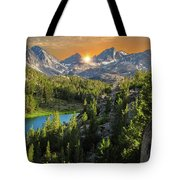 Light On Mack Lake Tote Bag