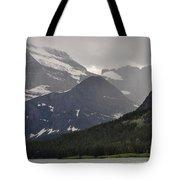 Light On Mountain Slopes Tote Bag
