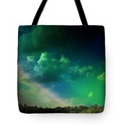 Light On The Forest Tote Bag