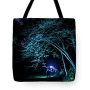 Light Painted Arched Tree  Tote Bag