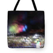Light Paintings - No 1 - Lightning Squared Tote Bag
