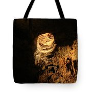 Light Peeks Through - Cave Tote Bag