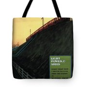 Light Power Speed - London Underground, London Metro - Retro Travel Poster - Vintage Poster Tote Bag