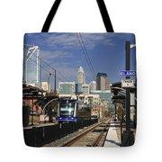Light Rail In Charlotte Tote Bag