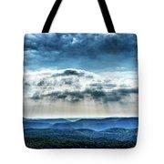 Light Rains Down Tote Bag