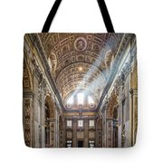 Light Rays In St Peter's, Rome Tote Bag