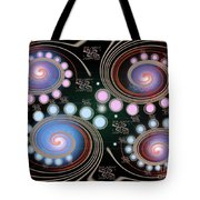 Light Rotate On Spiral Orbit Tote Bag
