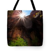 Light Shine Down Tote Bag