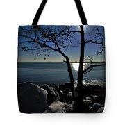 Light Snow And Stillness Tote Bag