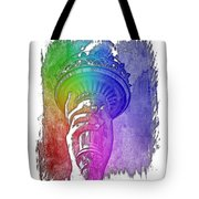 Light The Path Cool Rainbow 3 Dimensional Tote Bag