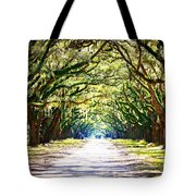 Light Through Live Oak Lane Tote Bag