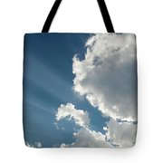 Light Through The Clouds Tote Bag