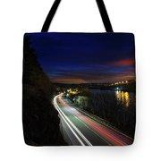 Light Trails On Highway 99 Tote Bag