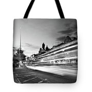 Light Trails On O'connell Street At Night - Dublin Tote Bag