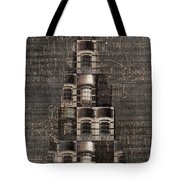 Light Tree With Dark Background Tote Bag
