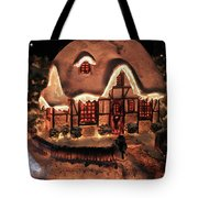Lighted Christmas House  Tote Bag