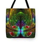 Lighted Flower Fractal Tote Bag