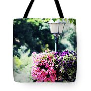 Lighted Flowers Tote Bag