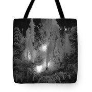 Lighted Star Fountian Tote Bag