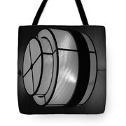 Lighted Wall In Black And White Tote Bag