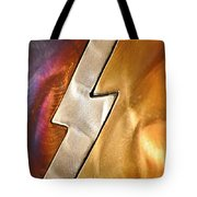 Lightening Bolt Abstract Tote Bag