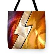 Lightening Bolt Abstract Posterized Tote Bag