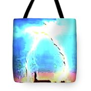 Lightening Strike Tote Bag