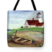 Lighthouse And Dinghy Tote Bag