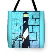 Lighthouse And Heron Tote Bag