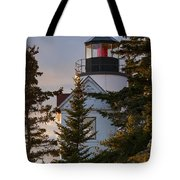 Lighthouse At Bass Harbor Tote Bag