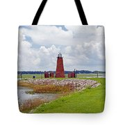 Lighthouse At Port Kissimmee On Lake Tohopekaliga In Central Florida   Tote Bag
